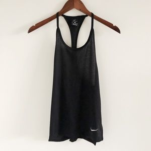 Nike Tailwind Dri-Fit Black Training Tank Top XS